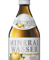 Mineralwasser plus Orange-Ingwer