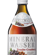 Mineralwasser plus Traube-Cranberry